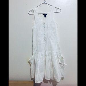 Mang go white cute dress